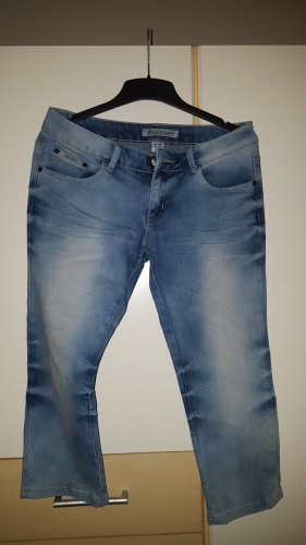 Rose Player Jeans a 3/4 blu