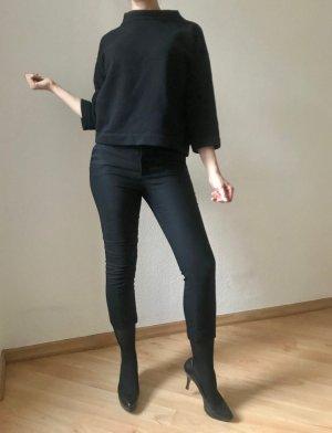 Zara Basic Pantalone a 7/8 nero