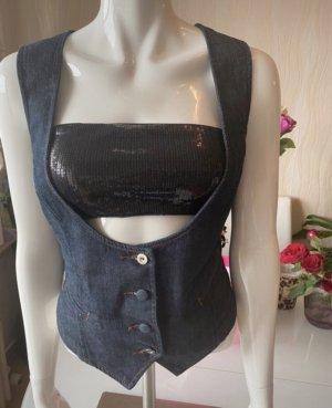 Schöne ärmellose Jeans Weste Gr XL EDC