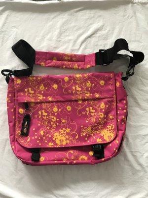 BestWay College Bag yellow-neon pink mixture fibre