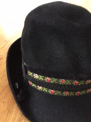 Gorra de caza negro-rojo oscuro