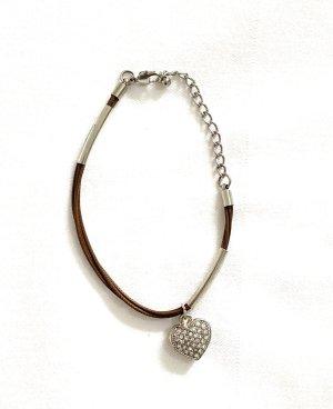 Schöne Armband Kunstleder Länge 21 cm Vintage