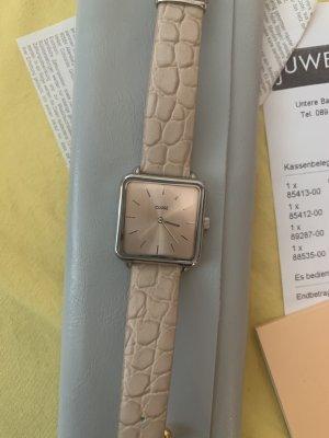 Cluse Zegarek ze skórzanym paskiem Wielokolorowy