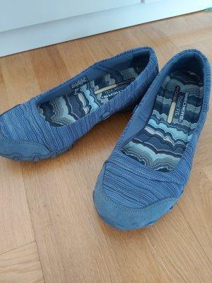 Skechers Ballerines pliables gris ardoise-bleu