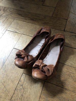 Miu Miu Foldable Ballet Flats brown