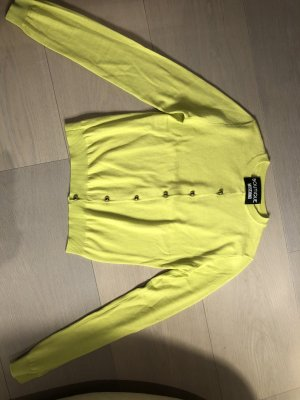 Boutique Moschino Cardigan lime yellow cotton
