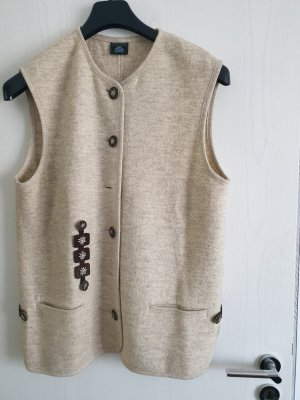 Traditional Vest sage green new wool