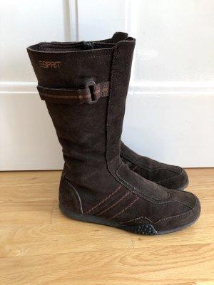 Esprit Botas estilo militar marrón oscuro