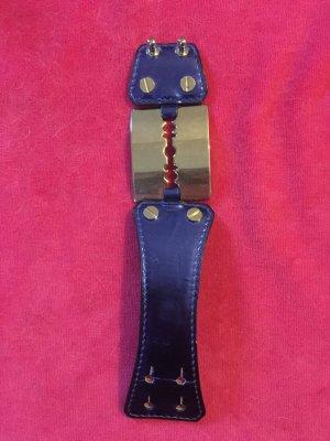 Alexander McQueen Armband neon blauw-zilver