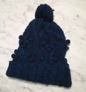Land's End Wełniana czapka ciemnoniebieski
