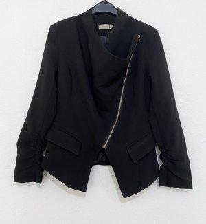 Blazer in jersey nero-oro