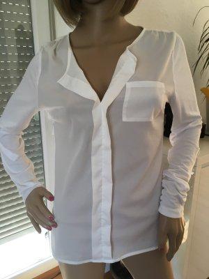 BC Collection Blusa collo a cravatta bianco sporco-bianco