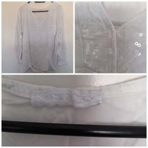 andere Marke Blouse à manches longues blanc
