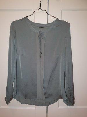 Laura Torelli Glanzende blouse grijs-groen
