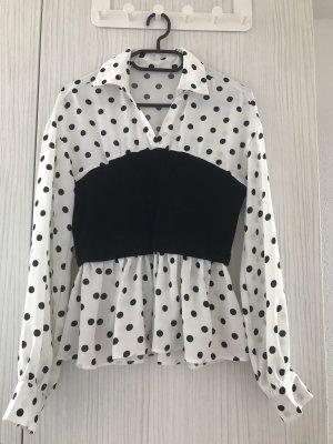 Bodysuit Blouse white-black