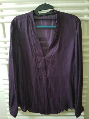 Esprit Glanzende blouse donkerpaars