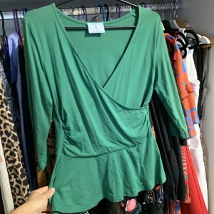 Andrea & Renato Long Blouse forest green