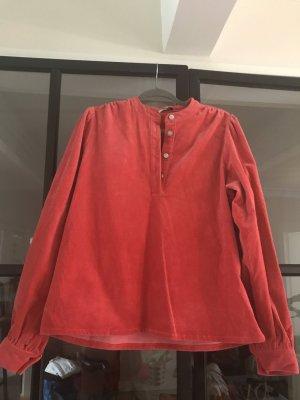 Schöne Bluse aus Cord von Ganni.