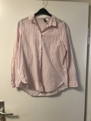 H&M Long Sleeve Blouse white-pink