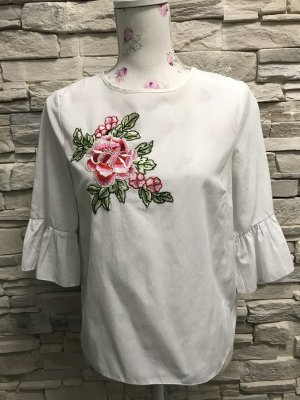 B.yu Italy Blouse white-red