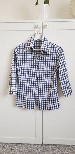 Made in Italy Bluzka w kratę biały-niebieski