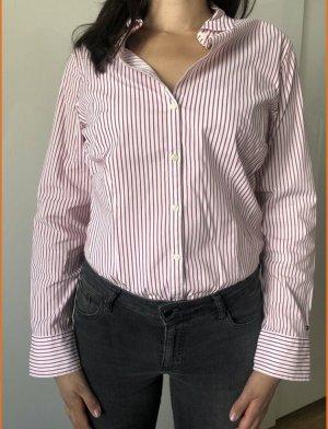 Tommy Hilfiger Chemise à manches longues blanc-rouge