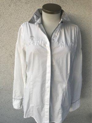 Schöne Bluse in weiß  silber