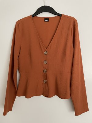Gina Tricot Long Sleeve Blouse russet