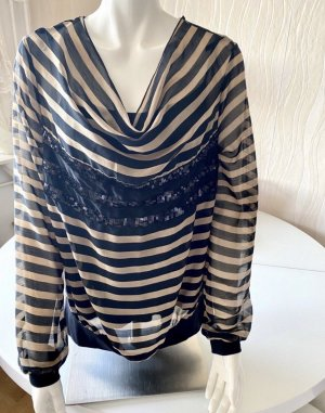 Biba Long Sleeve Blouse black-cream