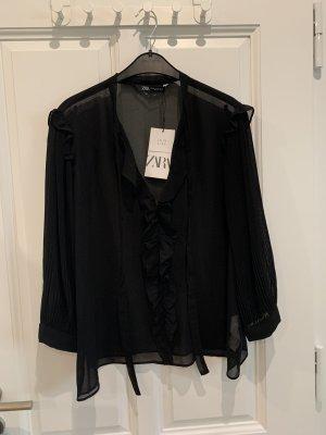 Zara Blouse à manches longues noir