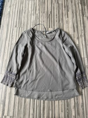 Vero Moda Glanzende blouse olijfgroen-khaki