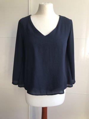 Only Kanten blouse donkerblauw