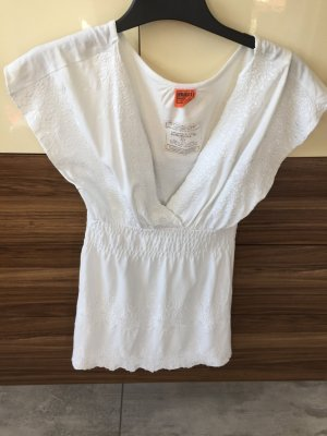 Schöne Bluse / Tunika von Object in weiß mit Muster