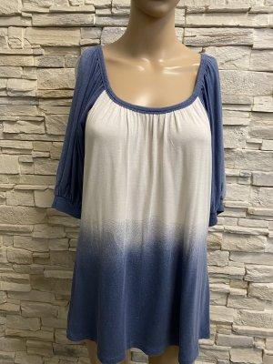 Alba Moda Blouse à manches courtes blanc cassé-bleu