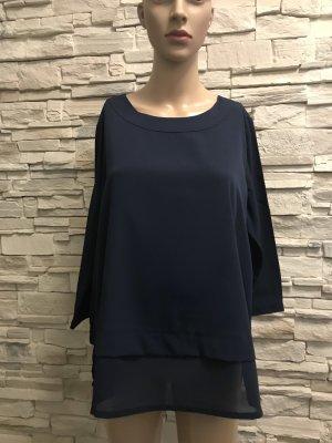 Ambria Selection Blusa de manga larga azul oscuro