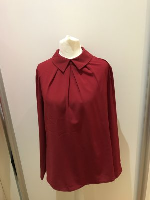 Anonyme Designers Slip-over Blouse dark red polyester