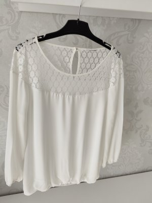C&A Yessica Blusa in merletto bianco