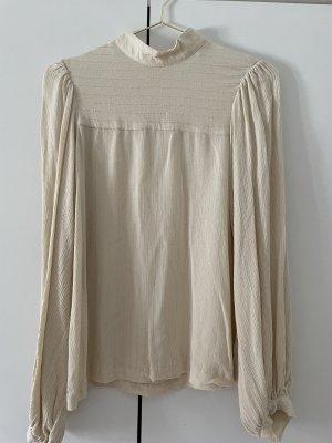 Carin Wester Bluzka ze stójką w kolorze białej wełny-złoto