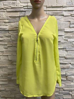 Elle Long Sleeve Blouse lime yellow