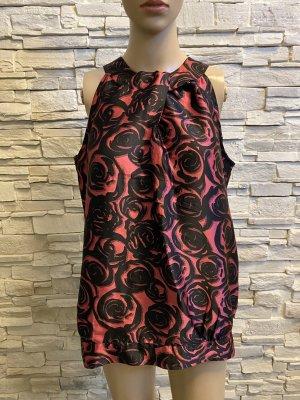 Next Short Sleeved Blouse black-brick red