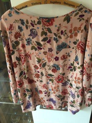 Oui Glanzende blouse roze