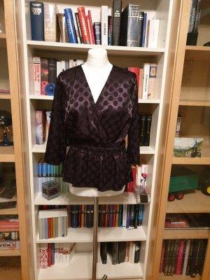 YAS Blusa kimono nero