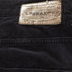 Brax Pantalon en velours côtelé bleu foncé