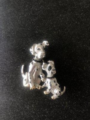 Schöne Brosche Emaille Hunde Disney 101 Dalmatiner