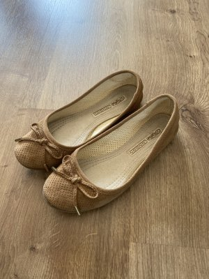 Buffalo London Ballerina Mary Jane color cammello Pelle