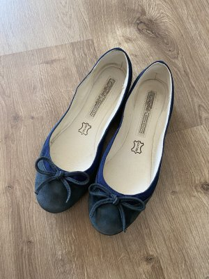 Buffalo London Ballerina Mary Jane blu scuro Pelle