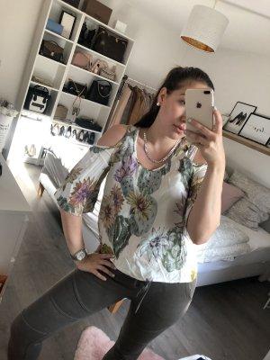 Schöne bunte Offshoulder Bluse mit Blumenprint