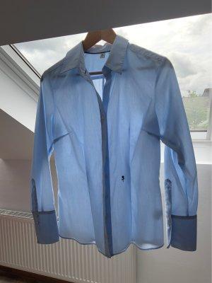 Seidensticker Blusa de manga larga azul celeste-azul claro