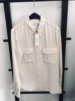 Calvin Klein Blouse-chemisier blanc-blanc cassé