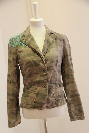 Schöne Camouflage Jacke Blazer von Review in Größe 38